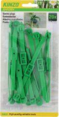 Kinzo Plantenklemmen Verstelbaar 14 X 0,8 Cm Groen 20 Stuks