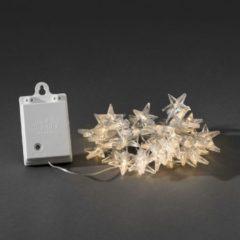 Motief lichtketting Sterren Binnen werkt op batterijen 40 LED Warm-wit Verlichte lengte: 3.9 m Konstsmide 3760-103