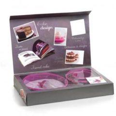 Roze Mastrad Cakeset - Siliconen - 3-laags - Raspberry