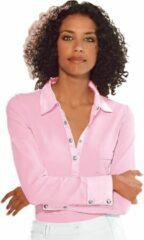 Roze Classic Inspirationen shirt met satijn bij de kraag