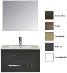 Badkamermeubelset Sanicare Q6 Twee Laden Chromen Greep 80 cm (alle kleuren, spiegel optioneel)
