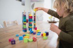 BS Toys blokkenset Stapeltorens 28 x 26 cm hout 55-delig