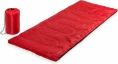 Rode Kampeer 1 Persoons Slaapzak Dekenmodel 75 X 185 Cm - Kamperen En Outdoor Artikelen Kampeerslaapzakken