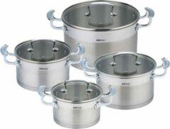 Zilveren Kinghoff 1202 pannenset - rvs - alle warmtebronnen