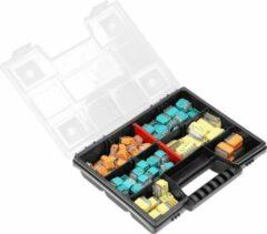 Groene ORNO Transparante push-in connectoren in assortimentsdoos - 123 stuks - Ideaal voor DIY, klussen & verbouwen (lasklemmen/kabelverbinders)