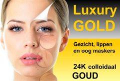 Gouden Luxury Gold Gezichtsmaskers - (14 stuks - Gezichts, oog en lippen maskers)