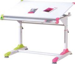 Links Link&acutes Schueler-Schreibtisch 2Colorido weiss/Pink-Gruen