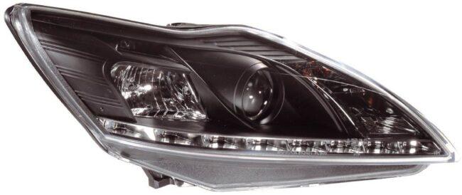 Afbeelding van AutoStyle Set Koplampen DRL-Look passend voor Ford Focus II Facelift 2008-2011 - Zwart