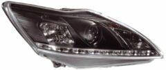 AutoStyle Set Koplampen DRL-Look passend voor Ford Focus II Facelift 2008-2011 - Zwart