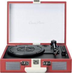 Lenco Classic Phono TT-110 - Platenspeler met Bleutooth en Speakers - Rood