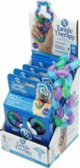 Paarse Tangle Toys Tangle Therapy - DISPLAY 4 STUKS + GRATIS SAMPLE
