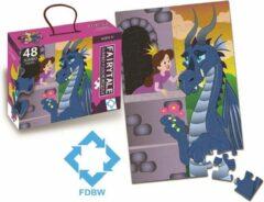 FDBW Kinderpuzzel – Vloerpuzzel – 48 stukjes | Vloerpuzzel kinderen 3 jaar – Sprookje | Puzzel Prinses | Puzzel Vloerpuzzel | Jumbo Puzzel - Prinses | 90 cm x 60 cm