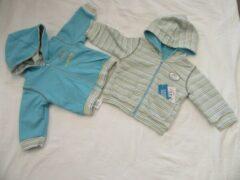 Dirkje , jongens , gilet , blauw of streep, omkeerbaar , 56 - 1 maand