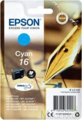 Blauwe EPSON 16 inktcartridge cyaan standard capacity 3.1ml 165 paginas 1-pack blister zonder alarm