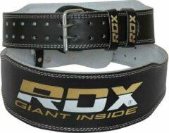Witte RDX Sports RDX Gym Lederen Gewichtenhef Riem - Large - Zwart - Leer