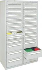 Stumpf Metall Stumpf® ST 420 plus Schubladenschrank mit 28 Schubladen, lichtgrau - 180 x 100 x 50 cm