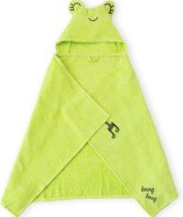 BiggDesign Milk&Moo - Baby Badcape - Babyhanddoek met Kap - 0-2 Jaar - Groen