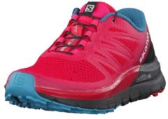 Rosa Trail-Running Schuhe SENSE PRO MAX mit Sensifit™-System 398452 Salomon Virtual Pink/Black/Enamel Blue
