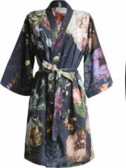 Donkerblauwe Essenza Fleur Vrouwen Nachtmode kimono Maat XL