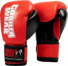 Gorilla Wear Ashton Pro Bokshandschoenen - Boxing Gloves - Boksen - Rood/Zwart - 16 oz