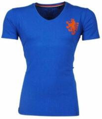New Republic EK Voetbal 2021 - Heren T-shirt - Hollandse Oranje Leeuw op de borst - Blauw