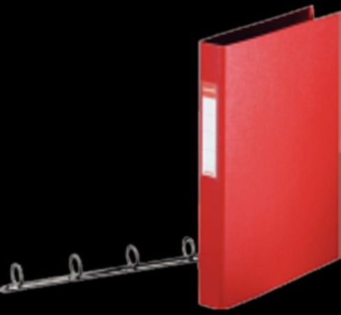 Afbeelding van Rode Bruna Ringband Esselte Vivida A4 4-rings 25mm PP rood