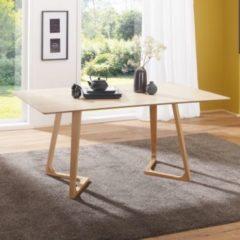 Wohnling Esszimmertisch SKANDI 160 x 74 x 90 cm MDF Holz Skandinavischer Esstisch mit rechteckiger Tischplatte Robuster Küchen-Tisch im Retro Stil