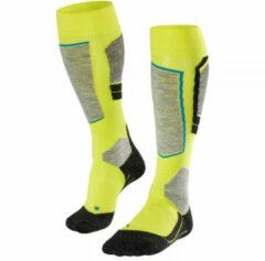 Falke - SK4 - Skisokken maat 39-41, geel/groen/grijs/zwart