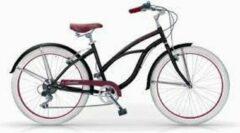 Meisjes fiets MBM HONOLULU cruiser zwart 26 inch, 6 versnellingen