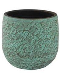Groene Ter Steege Pot evi antiq bronze bloempot binnen 32 cm