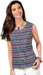 Blauwe Classic Basics shirttop in aangename, gemakkelijk te onderhouden single-jerseykwaliteit