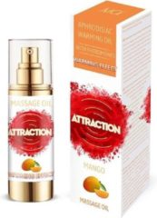 Attraction Mai feromonen massageolie verwarmend mango 30 ml - 30ml