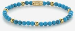 Rebel & Rose Rebel and Rose RR-40059-G Rekarmband Beads Turquoise Delight turquoise-en goudkleurig 4 mm M 17,5 cm