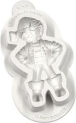 Witte Katy Sue Mould Sugar Buttons Character - Pirate
