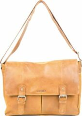 DSTRCT Limited Messenger Bag Buckles Laptoptas - Schoudertas Cognac