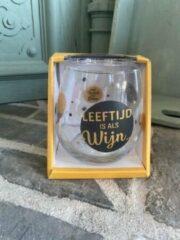 Gouden Creaties van hier Wijn - water glas / Leeftijd is als wijn... / wijnglas / waterglas / leuke tekst / moederdag / vaderdag / verjaardag / cadeau