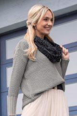 Grijze Bebe Au Lait Cotton Jersey - Verzorgingssjaal - kleur Park Avenue
