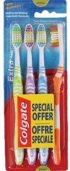 Donkerblauwe Colgate Extra Clean 4-Pack | Tandenborstel | Reistandenborstels | Gekleurde Tandenborstel | Goedkope Tandenborstels |Colgate |