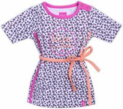 Beebielove Babykleding Meisjes Bruin Zomerjurkje Vive la vacance - 74