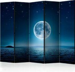Donkerblauwe Kamerscherm - Scheidingswand - Vouwscherm - Moonlit night II [Room Dividers] 225x172 - Artgeist Vouwscherm