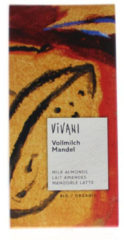 Vivani Chocolade melk met amandelen 100 Gram