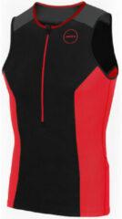 Rode Zone3 Aquaflo Plus triatlontop voor heren (mouwloos) - Triatlontops