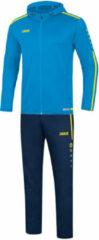 Lichtblauwe Jako Vrijetijdspak met kap striker 2.0 m9619-89 licht blauw