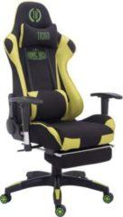 CLP Bürostuhl TURBO mit Stoffbezug, hochwertiger Polsterung und ausziehbarer Fußablage Gamingstuhl mit einer maximalen Belastbarkeit von 150 kg In v
