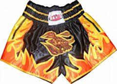 Zwarte Ali's Fightgear Ali's Fightgear Kickboksbroek Kort Schorpioen Maat L