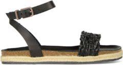 Fred de la Bretoniere Sandalen Espadrilles Sandal Natural Dyed Zwart Maat:38