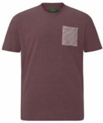 Charles Colby T-shirt Earl Mabon Plus Size donkerrood