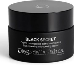 Diego dalla Palma Black Secret - Skin Renewing Micropeeling Cream - Regenererende en Micro Exfolierende Dagcrème en Nachtcrème - Egaliserende Gezichtscrème - Pot 50 ml