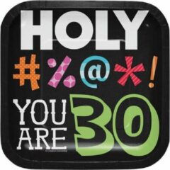Creative Converting - Holy Bleep 30 Dessert Borden - 8 stuks