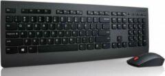 Zwarte Lenovo 4X30H56800 toetsenbord RF Draadloos AZERTY Belgisch Black